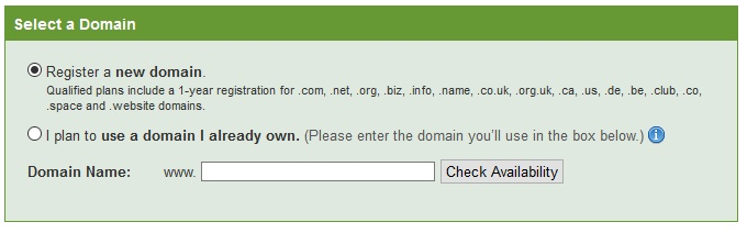 Domain in ipage Hosting