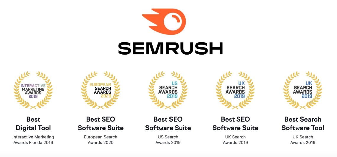 SEMrush review and awards